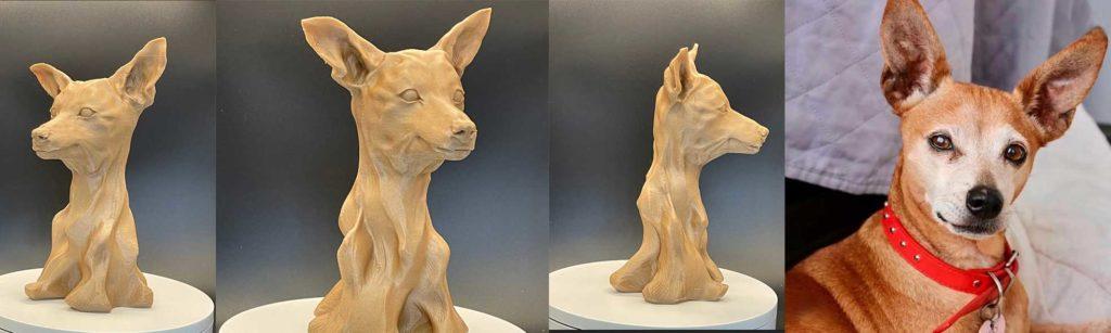 הנצחת חיית המחמד פסל תלת מימד
